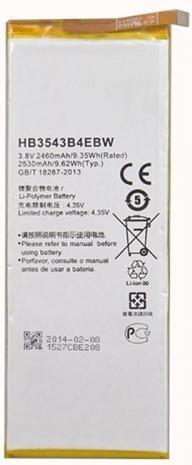 Batterij Huawei Ascend P7 HB3543B4EBW+ gratis datakabel