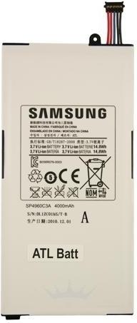 Samsung Galaxy Tab P1000 Batterij origineel SP4960C3A