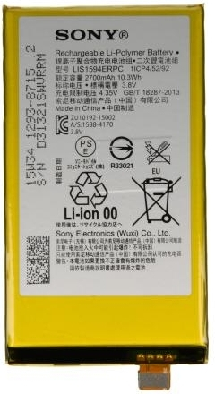 Sony Xperia Z5 Compact accu LIS1594ERPC vervangende batterij voor Xperia Z5 Compact