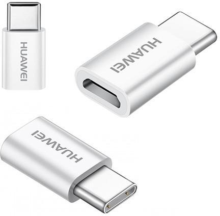 Huawei Micro-USB naar USB-C Converter - Origineel - Wit