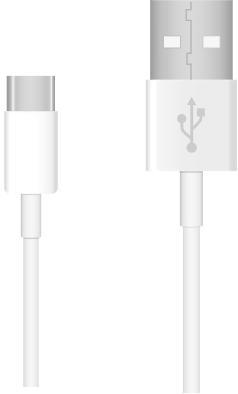 Universele Datakabel USB-C voor o.a. Huawei 200 CM - Wit