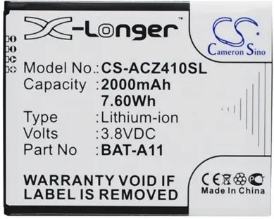 Acer Liquid Z410 duo Batterij Replacement BAT-A11