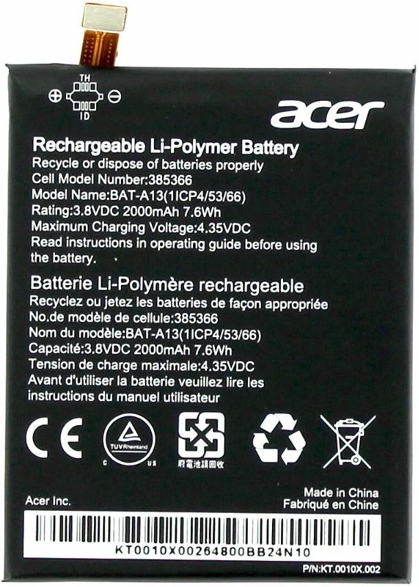 Acer Liquid Zest Batterij origineel BAT-A13