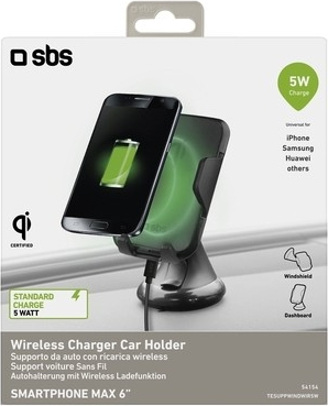 SBS - Wireless oplader + autohouder - 5 Watt